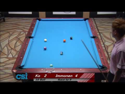 2013 CSI US Open Ten Ball Immonen vs Ko