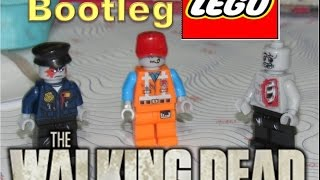 The Walking Dead LEGO Bootleg Mini figures toys (Raw video toy review)