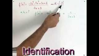 Decomposition d'une fonction numérique. Recherche de paramètre réels