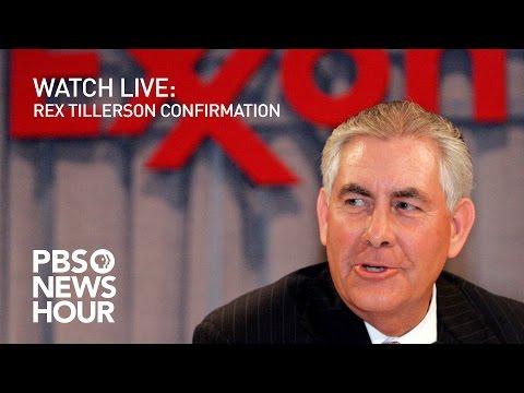 WATCH LIVE Rex Tillerson confirmation hearing
