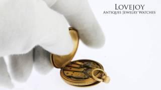 Patek Philippe Antique Pocket Watch 1853 Super Rare Enamel Stem WInd