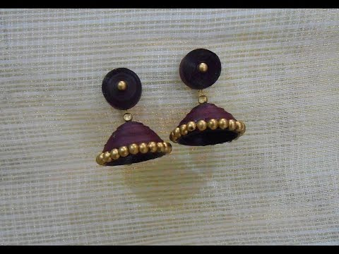 How to Quickly Make Quilling Jhumka/Earrings