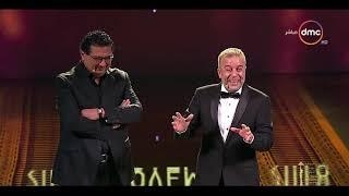 مهرجان القاهرة السينمائي - شريف منير يغلط فى إسم ماجد الكدواني وقال ماجد المصري  رد فعل الكدواني😂😂