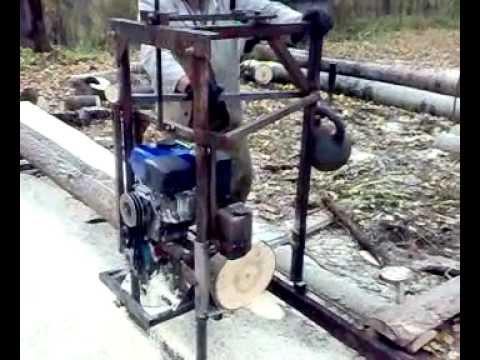 Бензиновая пилорама шинная своими руками 3