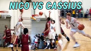 Nico Mannion & Cassius Stanley Go HEAD TO HEAD In Intense AAU Battle! CASSIUS CATCHES A POSTER 😱