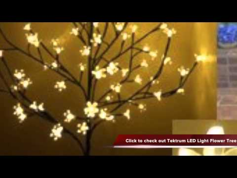 Tektrum 6 5inch Tall 108 Warm White LED Lighted Cherry Blossom Flower Christmas Tree Review