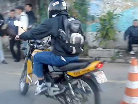 Prova prática de moto no Detran de Campo Grande RJ SIMULADO