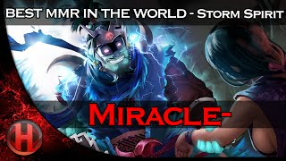 Miracle- 8062 MMR TOP 1 Stom Spirit Gameplay Dota 2