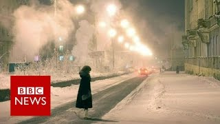 The town where people endure -50 C - BBC News