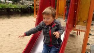 Kids Playground  Video Fun Day on Colorfull Slides Family Fun for Children Toddler  Babies