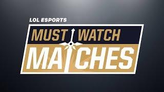 Must Watch Matches Spring 2018 Episode 2: 100 vs. FOX   VIT vs. G2   SS vs. RW