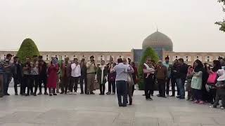 French Couple Dance in Esfahan naghshe jahan square