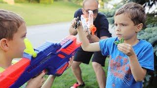 Nerf War:  Fidget Spinner Gun Game