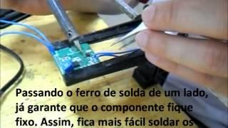 Como soldar: Componente QFN-16