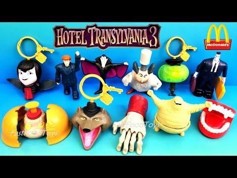 2018 McDONALD S HOTEL TRANSYLVANIA 3 HAPPY MEAL TOYS VS 2012 HOTEL TRANSYLVANIA 1 FULL WORLD SET 11