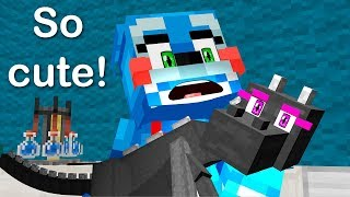 FNAF Monster School: BABY Enderdragon Operation! - Minecraft Animation