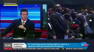 eNCA's Samkele Maseko discusses Zola Skweyiya's funeral