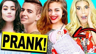 PRANKING YOUTUBERS BY DROPPING FAKE BABY!! Playlist 2017