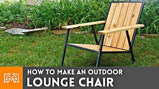 Modern Outdoor Lounge Chair // How To