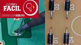 Soldagem de componente eletrônico - Diodo semicondutor - Eletrônica
