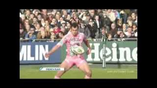 Incredible skill kick in rugby against Bath in 2009 (Lionel Beauxis)