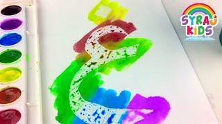FUN Arabic Alphabet | Crayola Watercolor Painting | تعلم الأبجدية العربية Syraj Kids