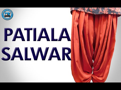 Patiala Salwar - Cutting and Stitching (Step by Step) | BST