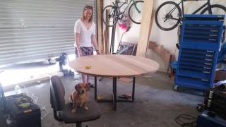 DIY: Making our round dining table