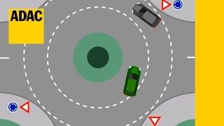 Regeln im Kreisverkehr | ADAC 2017