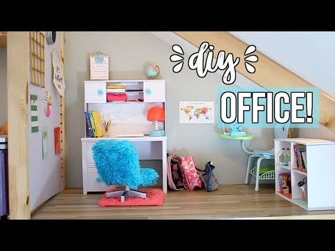 Xxx Mp4 DIY DOLL OFFICE How To Make An American Girl Doll Office Ep 5 3gp Sex