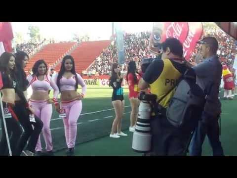 edecanes y aficion en el Xolos vs Pachuca HD