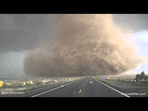 Extreme up-close video of tornado near