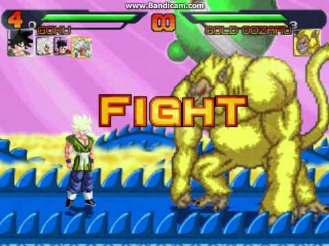 Dragon Ball AF M U G E N Gameplay Surival 10 rounds