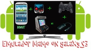 Tutorial Como jugar emulador MAME en Galaxy S3 con mando de PS3 + Cable HDMI en TV