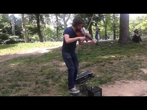 K.P. Firework by violin in Central Park NYC