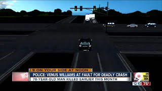 Police: Venus Williams at fault for deadly crash