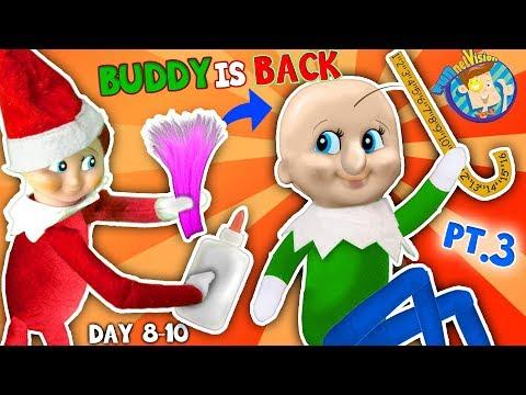BALDI Elf on the Shelf gets New HAIRDO Days 8 9 & 10 FUNnel Fam Christmas Vision