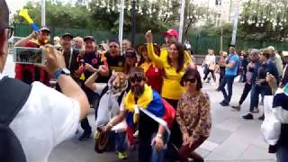 World cup. Football fans. Colombia