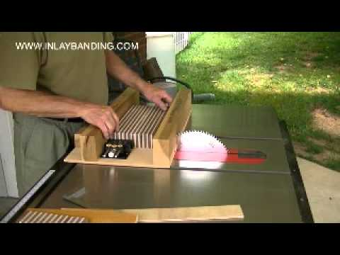 Making Wood Inlaybanding Part 1 of 2