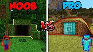 Minecraft NOOB vs. PRO: HIDDEN BUNKER in Minecraft!