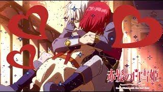 Snow White and the Red Hair: Shirayuki hugs Zen scene