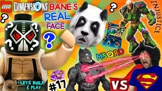 BANE'S REAL FACE?  Batman vs. Superman vs. Lex Luthor FIGHT! Lets Build & Play LEGO Dimensions #17