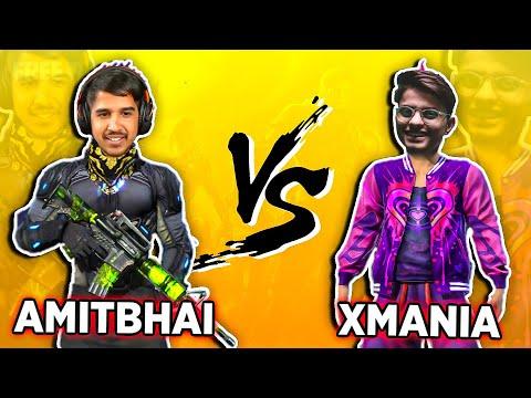 AmitBhai Vs Xmania Mobile Vs Mobile Clash Squad Free Fire Desi Gamers