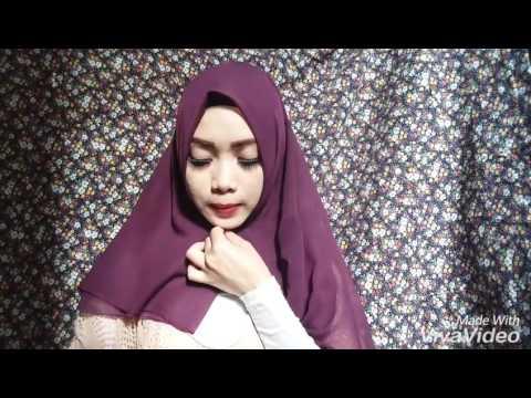 cara memakai jilbab segi4 modern #2