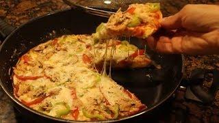 بيتزا المقلاة الشهية 😍 سهلة .. ناجحة .. بدون فرن
