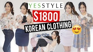 I TRIED $1800 OF KOREAN CLOTHES Try-On HAUL from YESSTYLE