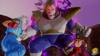 Dragon Ball Xenoverse (PS4): DBZanto & Goku Vs Great Ape Vegeta (Saiyan Saga) (Part 9)【60FPS 1080P】