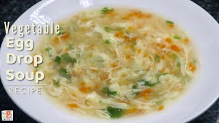 Easy VEGETABLE EGG DROP SOUP Recipe