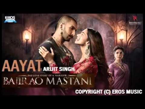Aayat    Full  Song   Bajirao Mastani   Arijit Singh  Deepika Padukone, Ranveer Singh   YouTub