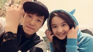 Akama Miki  and 张木易 practicing 勇敢爱 brave love